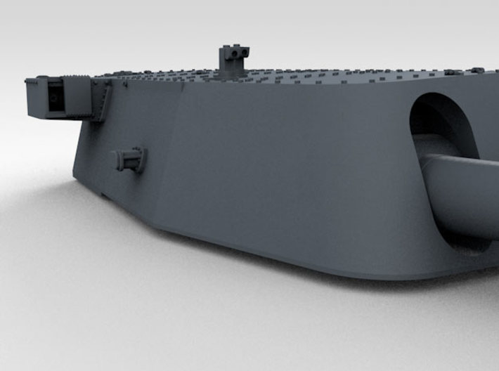 """1/700 16""""/45 MKI HMS Nelson Turrets 1940 3d printed 3d render showing A Turret detail"""