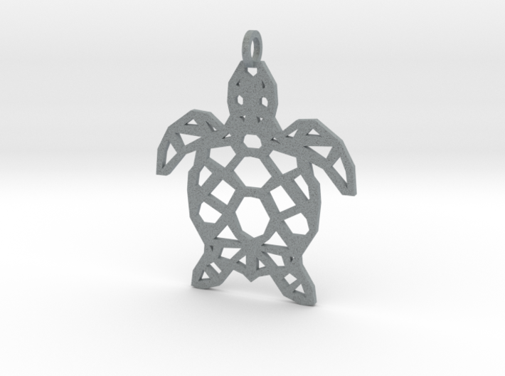 Geometric Turle Necklace 3d printed
