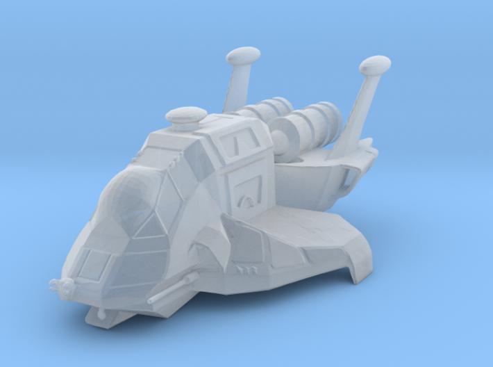 Raptor (Battlestar Galactica), 1/200 3d printed