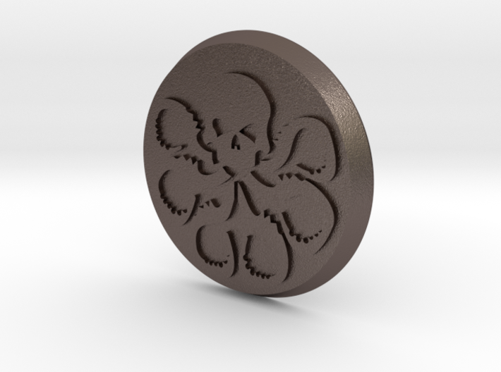 Agents Of Hydra Button 3d printed