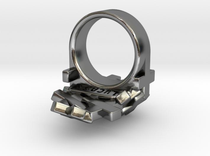 Pile Of Plus Ring 3d printed