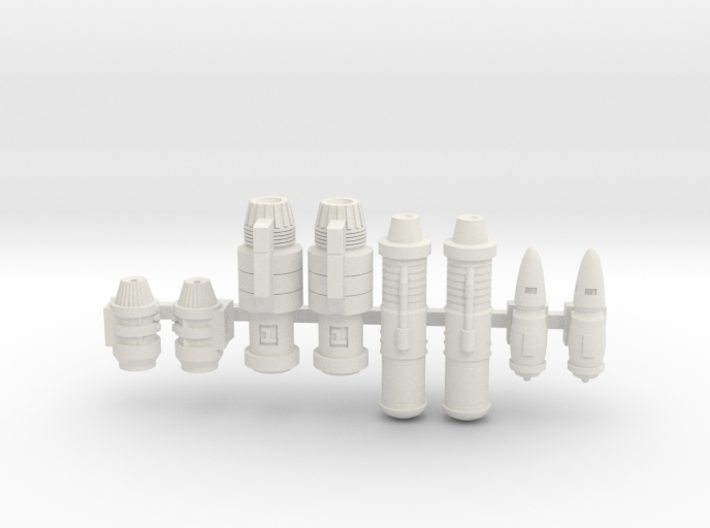 Space Ship Engines 1/270 1/285 3d printed