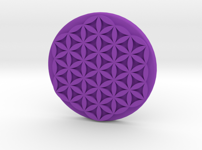 Flower Of Life Button 3d printed