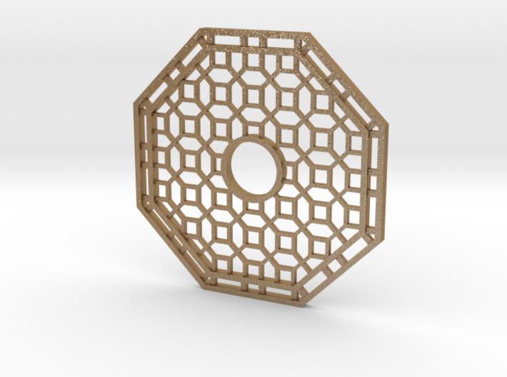 Chinese Octagon Lattice Mirror Charm 3d printed