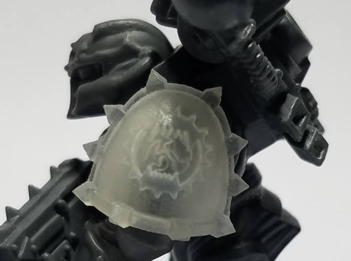 Planet Devourer Spiked Shoulder Pads x10 3d printed Miniature not included