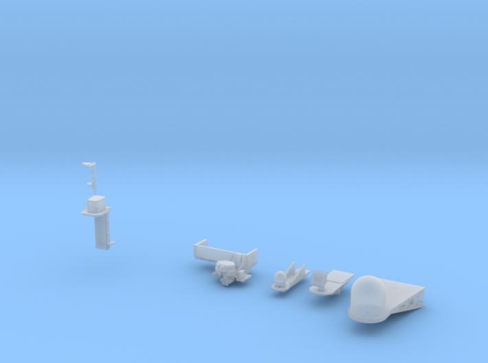 1:350 Scale Nimitz Class Electronics Platforms #1 3d printed