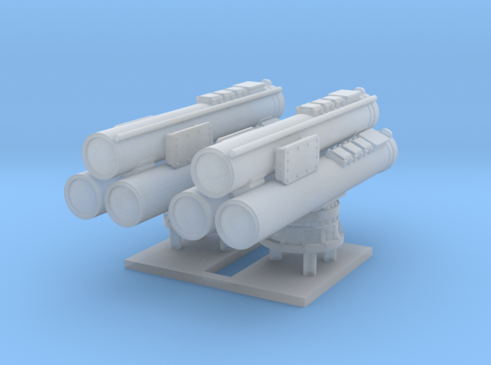 MK32 Torpedo tubes x 2 - 1/192 3d printed