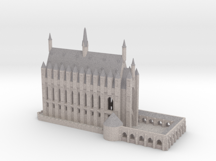 1/720 Hogwarts - Great Hall 3d printed