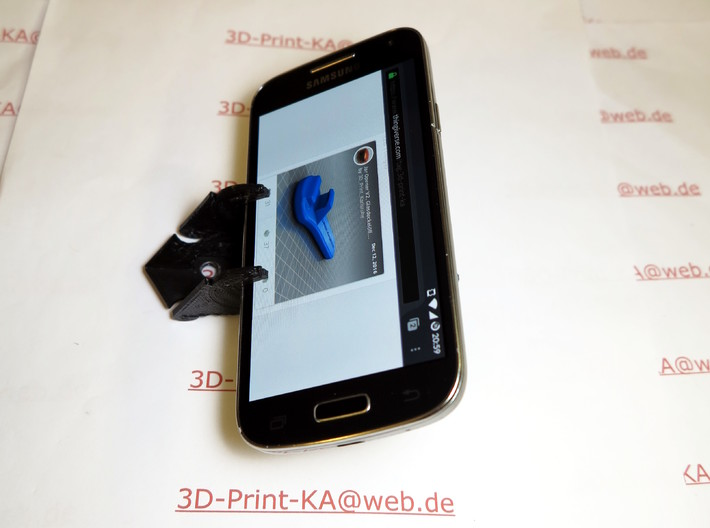 Check card mobile mount for smartphone 3d printed