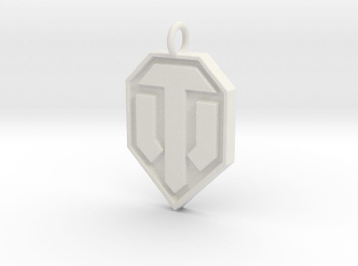 World of tanks pendant 3d printed