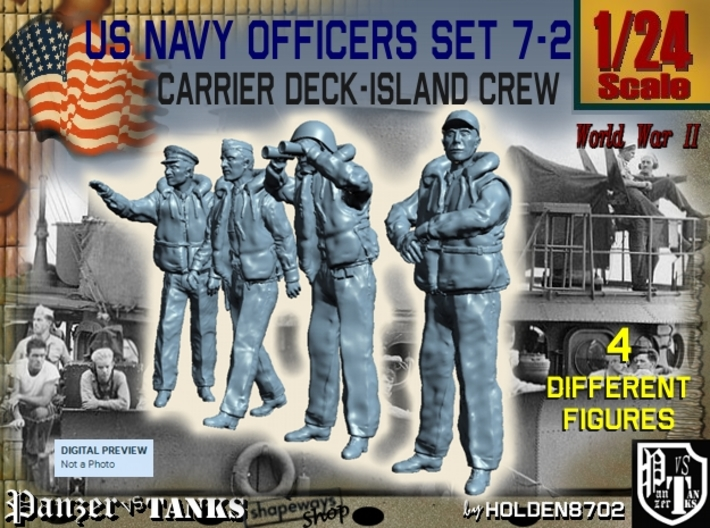 1-24 USN Officers Carrier Island Set7-2 3d printed