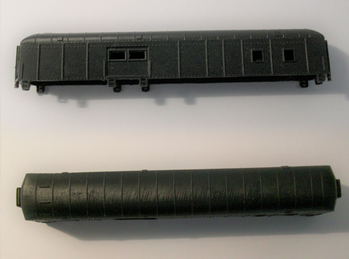 D&RGW RPO Baggage Car NScale 3d printed Side and Top View 3Dprinted in HAD