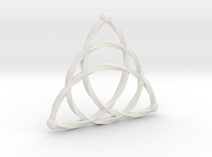 Triqeutra Celtic Knot - Large 3d printed
