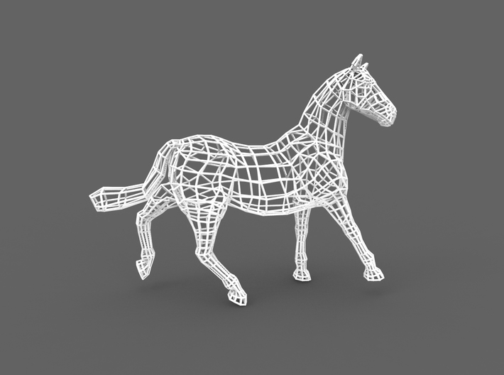 2014 Year of the Horse- Nylon (Medium) 3d printed