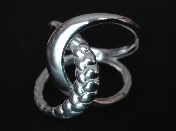 Braid Ring 3d printed