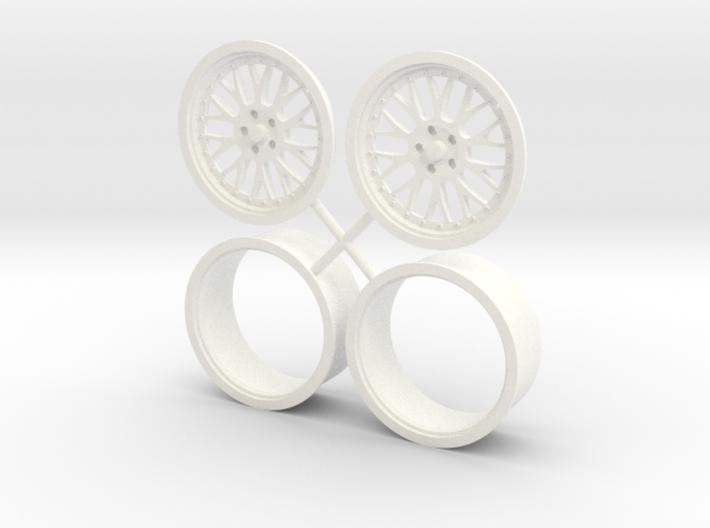 "BBS Mono Block wheel 17"" 1/12 3d printed"