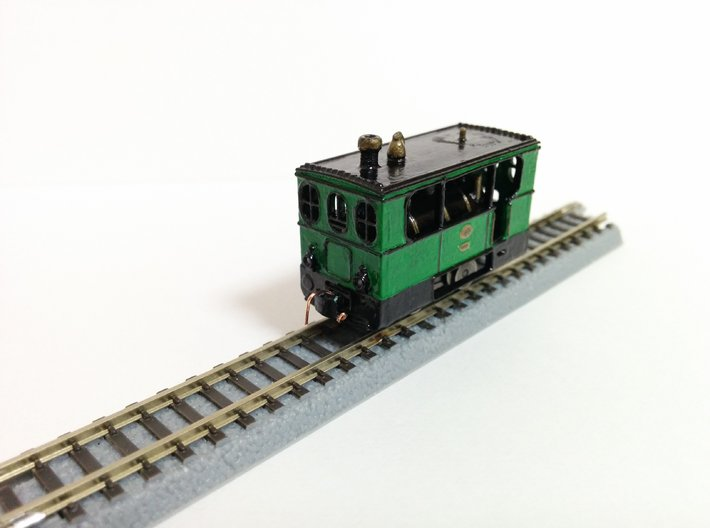 Hohenzollern Tramway locomotive 3d printed Painted and finished model