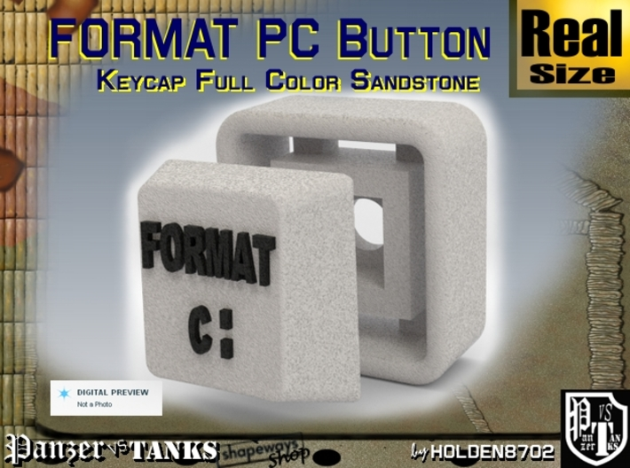 White and Black Color Key of Format PC 3d printed