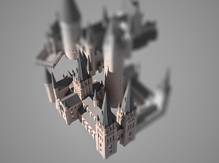 1/720 Hogwarts - Cathedral 3d printed