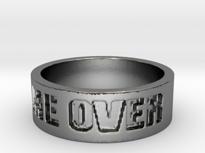 Game Over Ring 3d printed