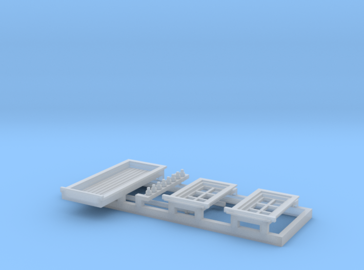 HO NSWR 'Cheap' Platform Signal Box Detail Parts 3d printed