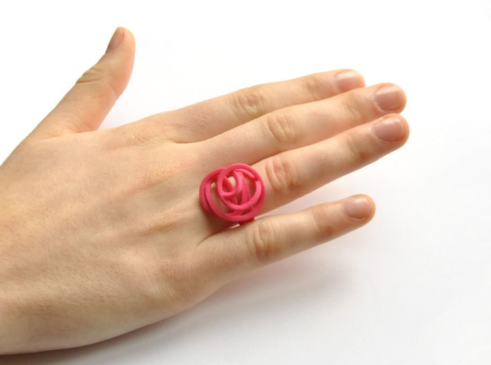 Ring Love is in the Air Medium (from $16) 3d printed Silver Ring  Air Love