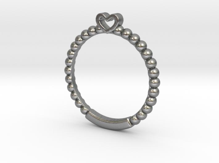 Cute Simple Heart Ring 3d printed