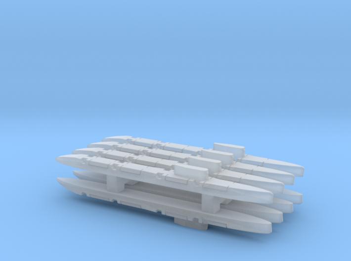 Echo-Class SSGN x 8, 1/6000 3d printed