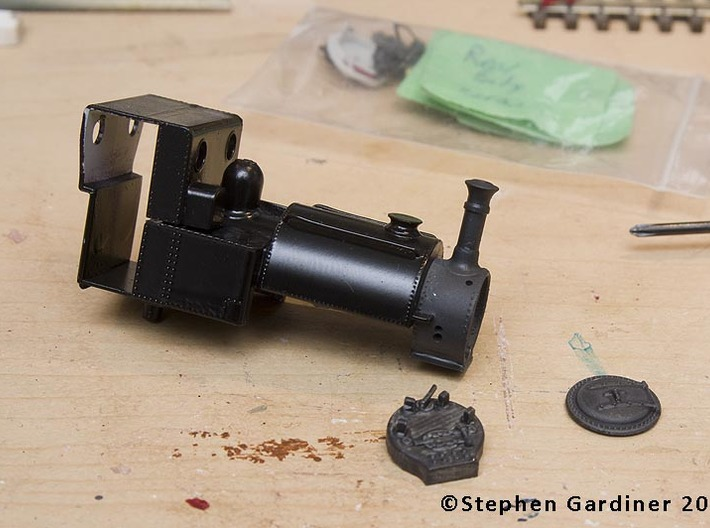 Talyllyn (Bachmann Skarloey) Backhead 3d printed Shown with the Skarloey/Talylyyn Body and a 3D printed smokebox door form another source.