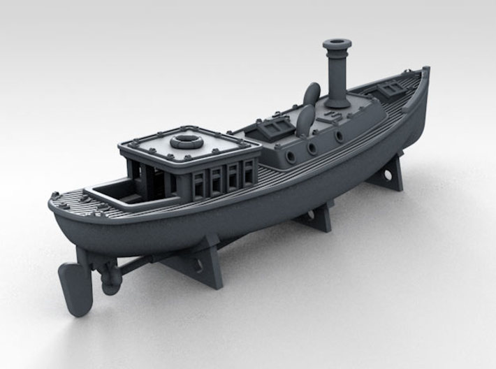 1/600 WW2 RN Boat Set 4 with Mounts 3d printed 45ft Admirals Barge