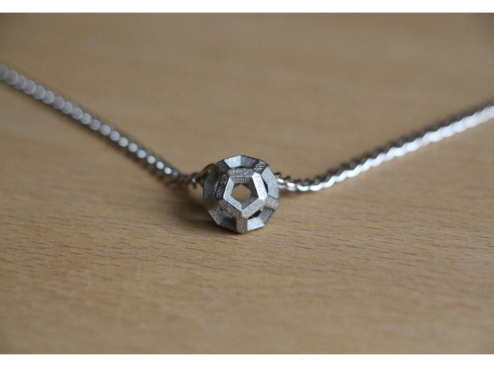 Inverted Edges Dodecahedron Pendant 3d printed