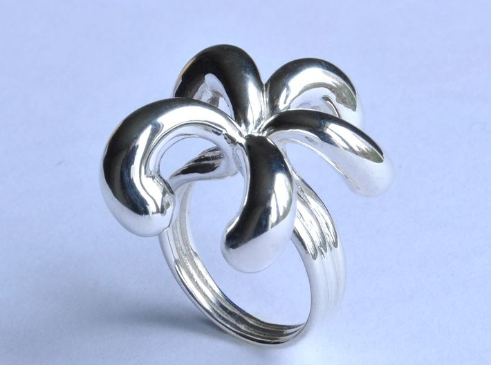 Water Drops Ring (From $15) 3d printed Water Drops Ring Silver