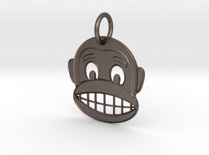 Happy Monkey Keychain 3d printed
