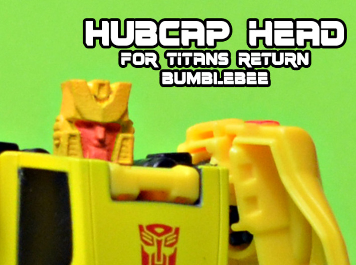 Hubcap Head for Titans Returns Bumblebee 3d printed Hand painted black acrylate