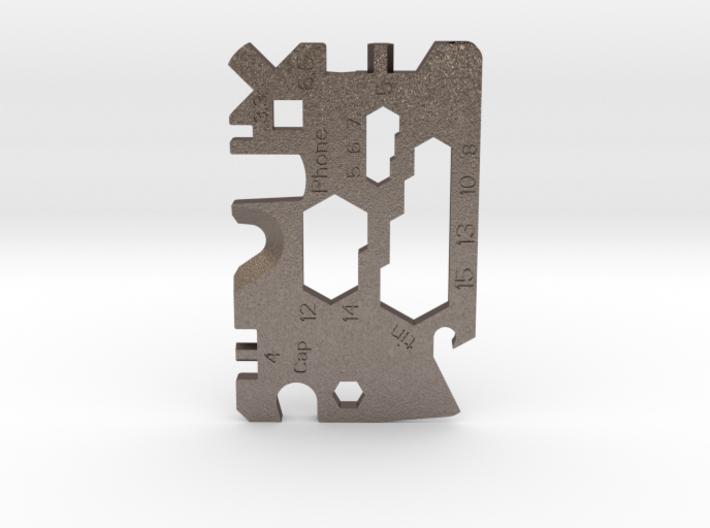 MultiCard - universal lightweight pocket tool 3d printed