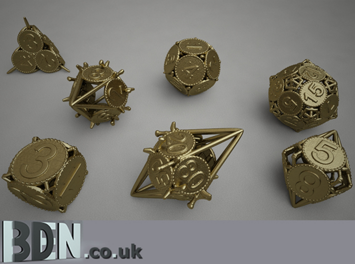 Swords and Shields D&D Dice set D20 3d printed Full set available