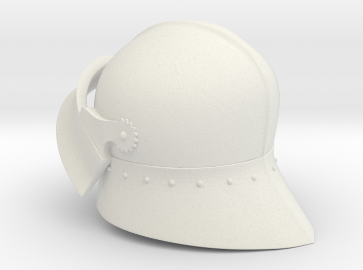 Medieval Sallet compatible with playmobil figure 3d printed