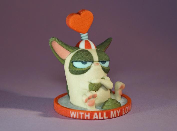 My Grumpy Valentine Custom Message 3d printed