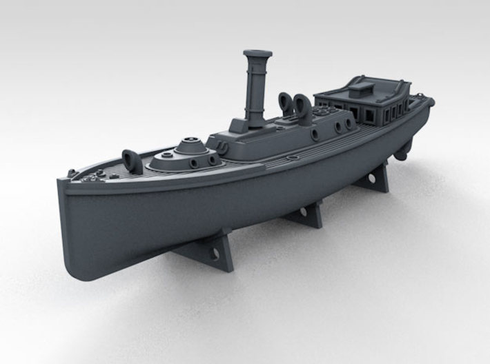 1/700 WW2 RN Boat Set 4 Without Mounts 3d printed 50ft Steam Pinnace Mount NOT included