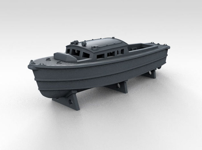 1/700 WW2 RN Boat Set 4 Without Mounts 3d printed 35ft Seaplane Tender Mounts NOT Included