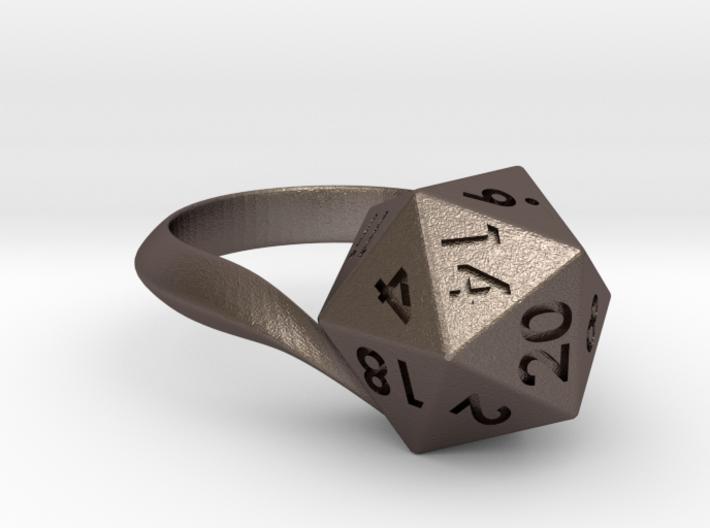 D20 Ring 3d printed
