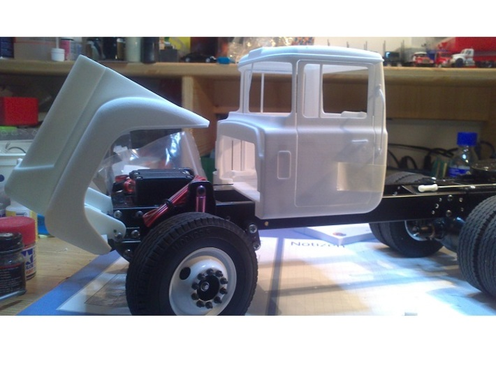 Mack-shell4 Shh 3d printed Cab with opened hood