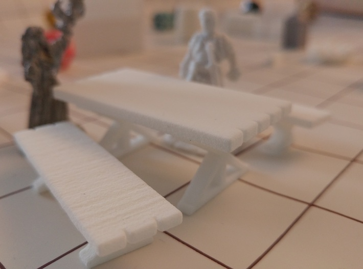 Tabletop: Trestle Table- Bench 3d printed