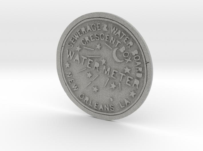 New Orleans Water Meter Cover 3d printed