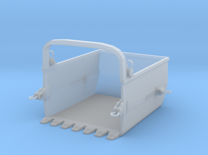 Big Muskie Bucket Revised Bigger Z Scale 3d printed Big Muskie Bucket Z scale