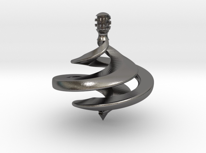 Ribbon Spinning Top 3d printed