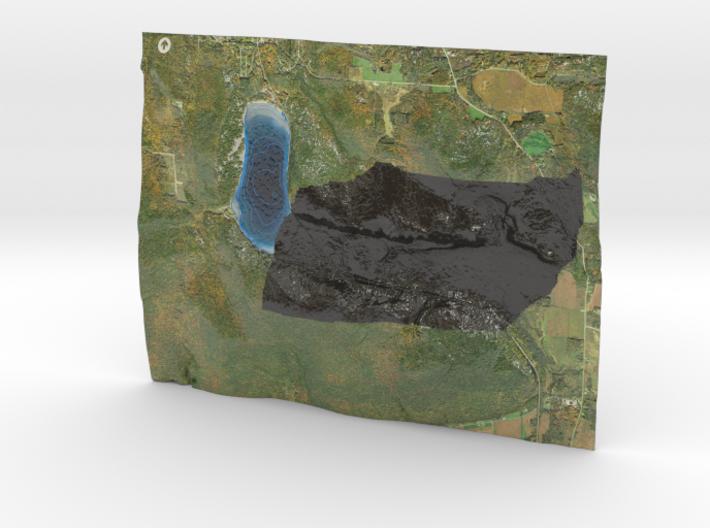 Devil's Lake Map (1:24k)  - Bathymetry 3d printed