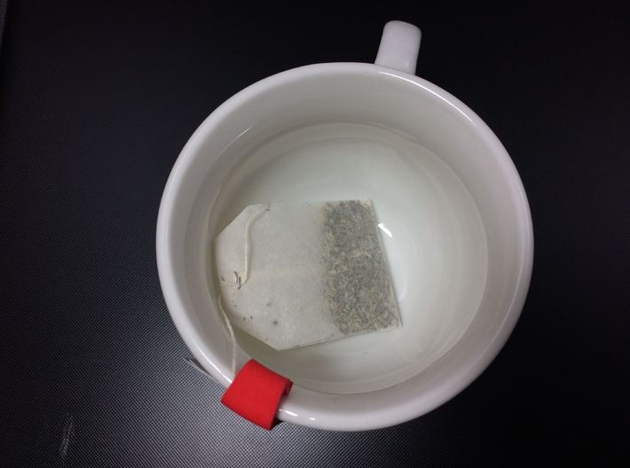 Tea Bag Holder C (Personalized with Embossed Text) 3d printed