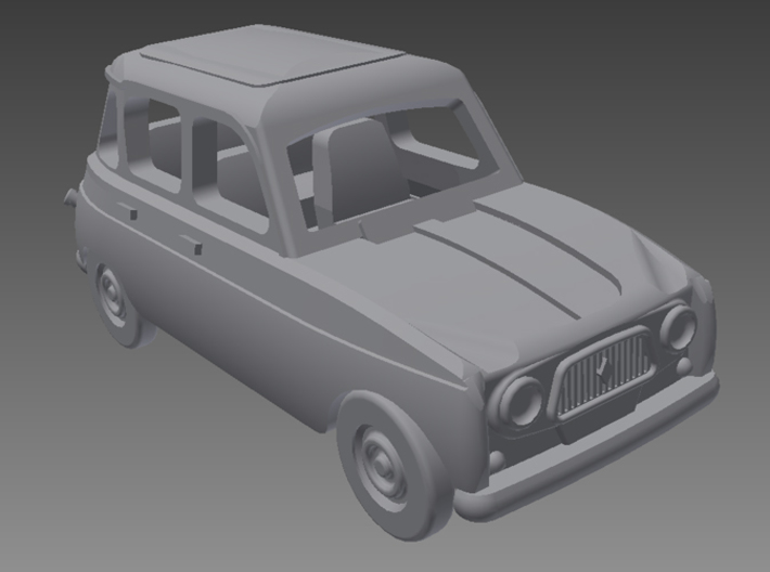 Renault 4 Hatchback 1.gen 1:160 scale (Lot of 2 ) 3d printed