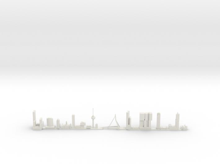 Skyline Rotterdam schaalmodel 3d printed
